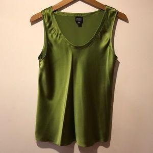 Eileen Fisher Tops - Eileen Fisher | Green 100% Silk Sleeveless Top M